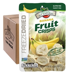 Wholesale Banana Freeze Dried Fruit Crisps 100 pk