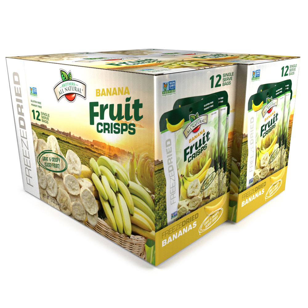Wholesale Freeze Dried Banana Fruit Crisps, 24 pk
