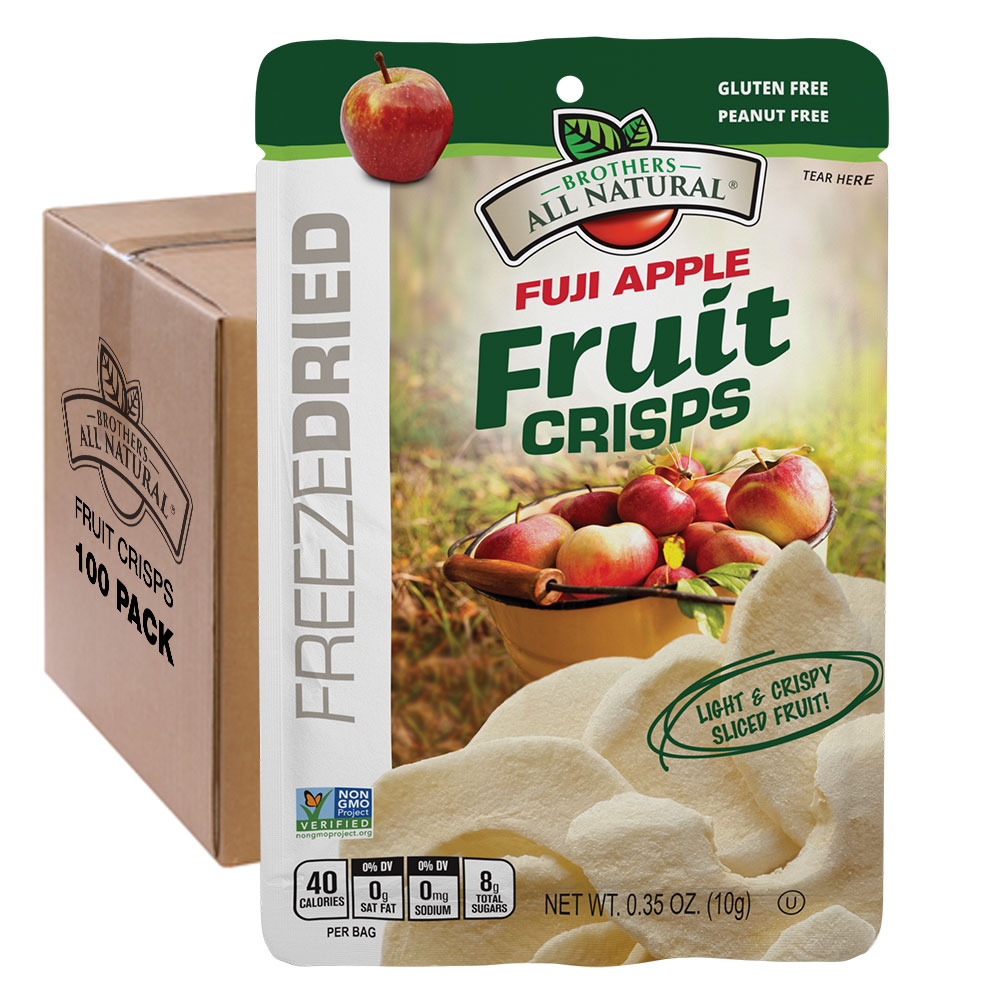 Wholesale Fuji Apple Freeze Dried Fruit Crisps 100 pk