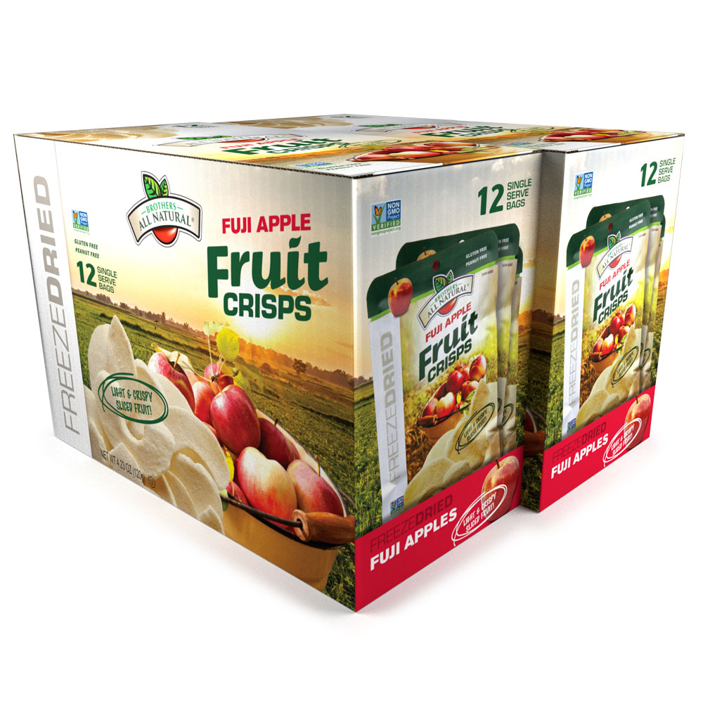 Wholesale Freeze Dried Apple Fruit Crisps, 24 pk