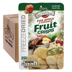 Wholesale Fuji Apple Cinnamon Freeze Dried Fruit Crisps 100 pk