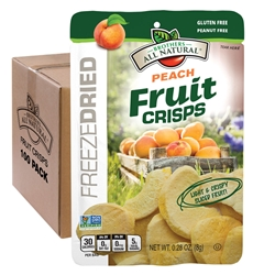 Wholesale Freeze Dried Peach Fruit Crisps 100 pk