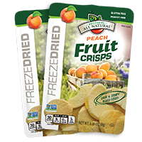 Peach Fruit Crisps 24-pack Wholesale Freeze Dried Peach Fruit Crisps 24 pack
