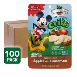 Wholesale Mickey Mouse Clubhouse Freeze Dried Fruit Snacks, Fuji Apple Cinnamon 100 pk