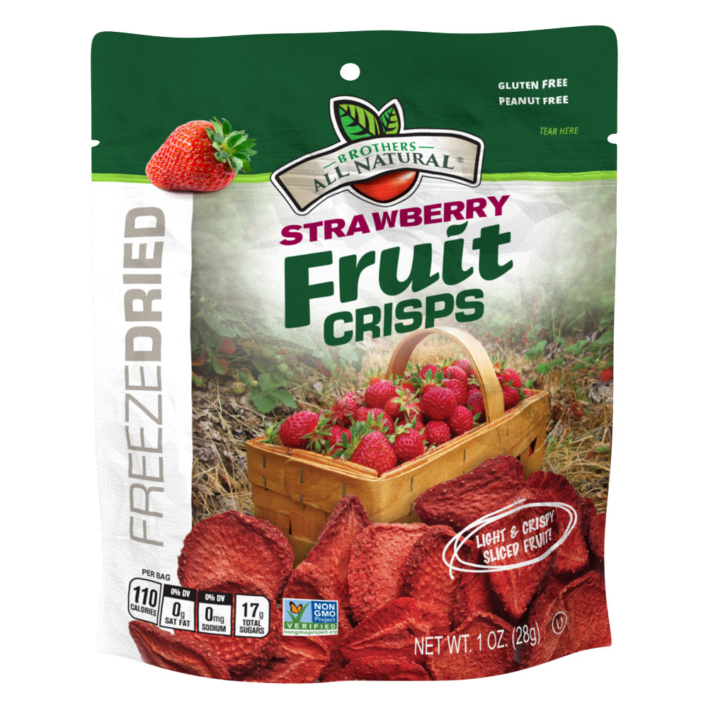 Wholesale Freeze Dried Strawberries 6 pack 1oz. resealable
