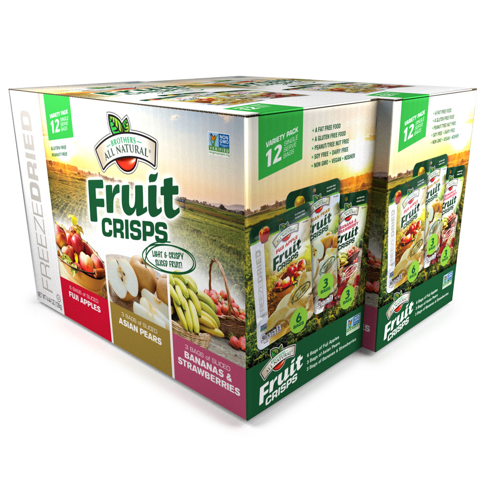 Wholesale Variety Freeze Dried Fruit Crisps 24-pack